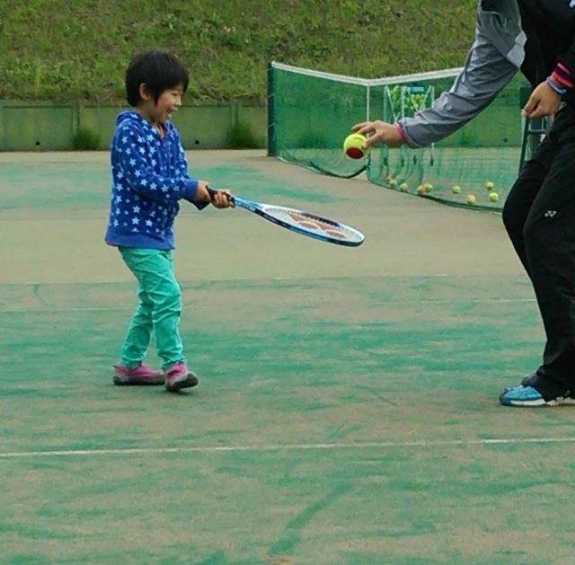 「親子遊び」としてテニス