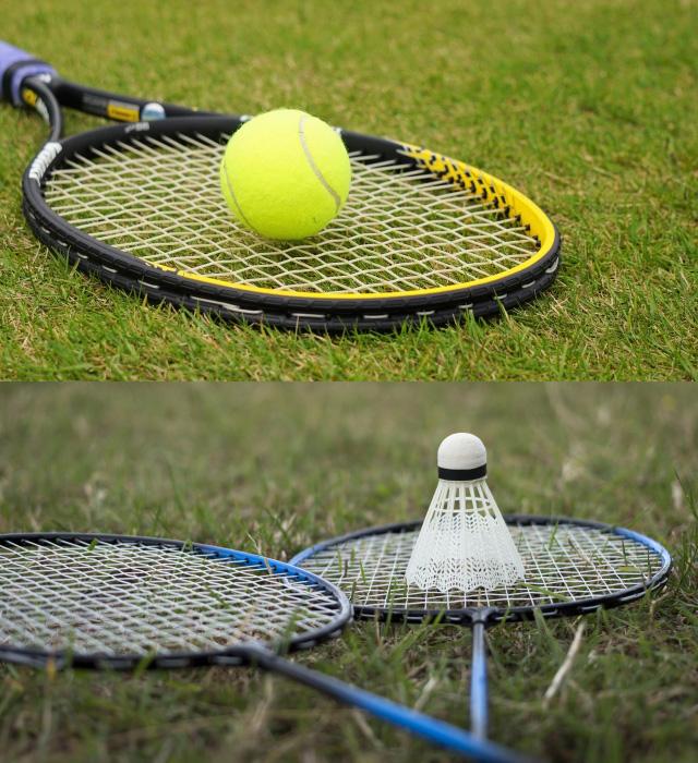 テニスとバドミントン